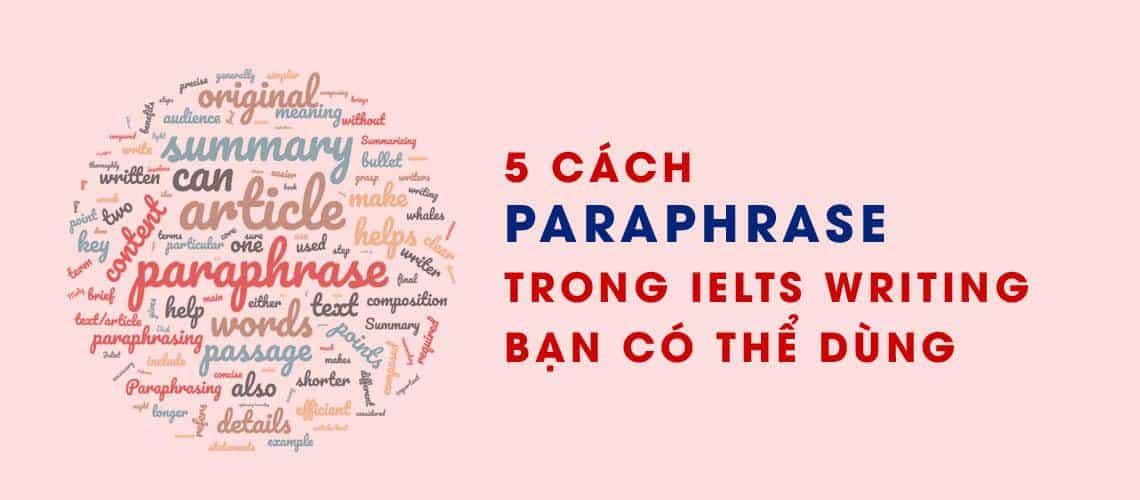 paraphrase trong ielts bạn có thể dùng